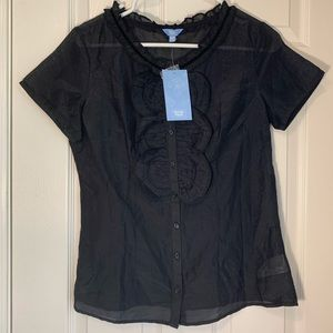 NWT Denver Hayes buttoned blouse